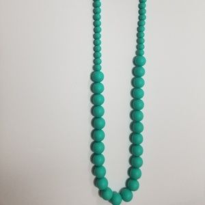Turquoise Teething beads necklace